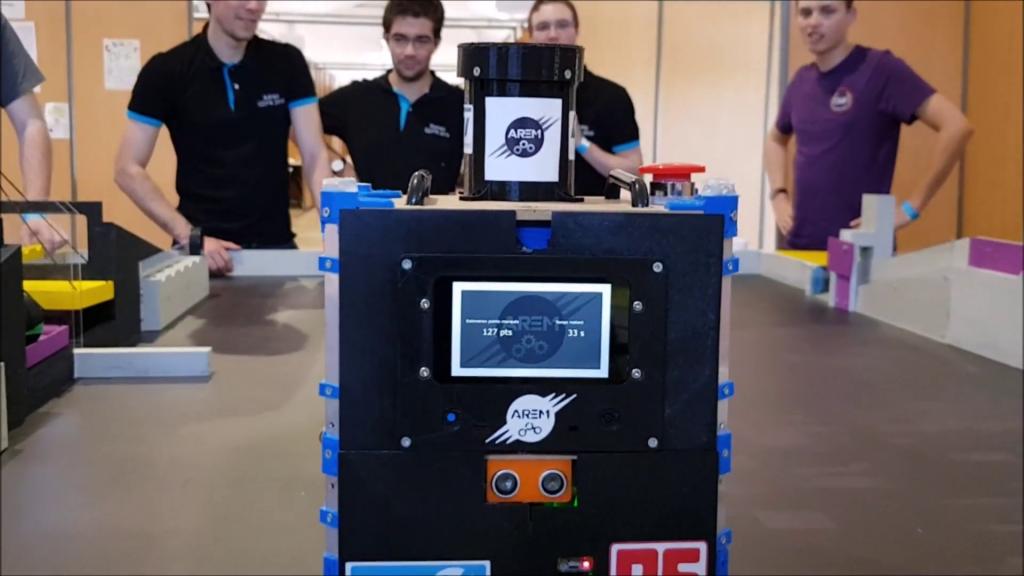 Ecran tactile sur le petit robot